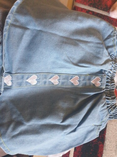 Baby / Toddler Girl Embroidered Heart Print Denim Skirt photo review
