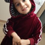 2-piece Baby / Toddler Striped Rabbit Ear Hoodie and Velvet Pants Set photo review