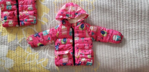 Baby / Toddler Girl Cute Cartoon Print Long-sleeve Cotton Hooded Coat photo review