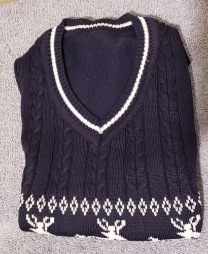 Toddler / Baby Elk Print Sleeveless Knitwear photo review