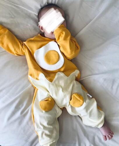 Autumn Baby Boy Long Sleeve Bodysuit Egg Style photo review