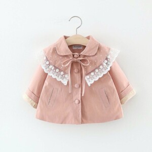 Autumn and winter Baby Toddler Kid girl windbreaker jacket (snowflake edge style)