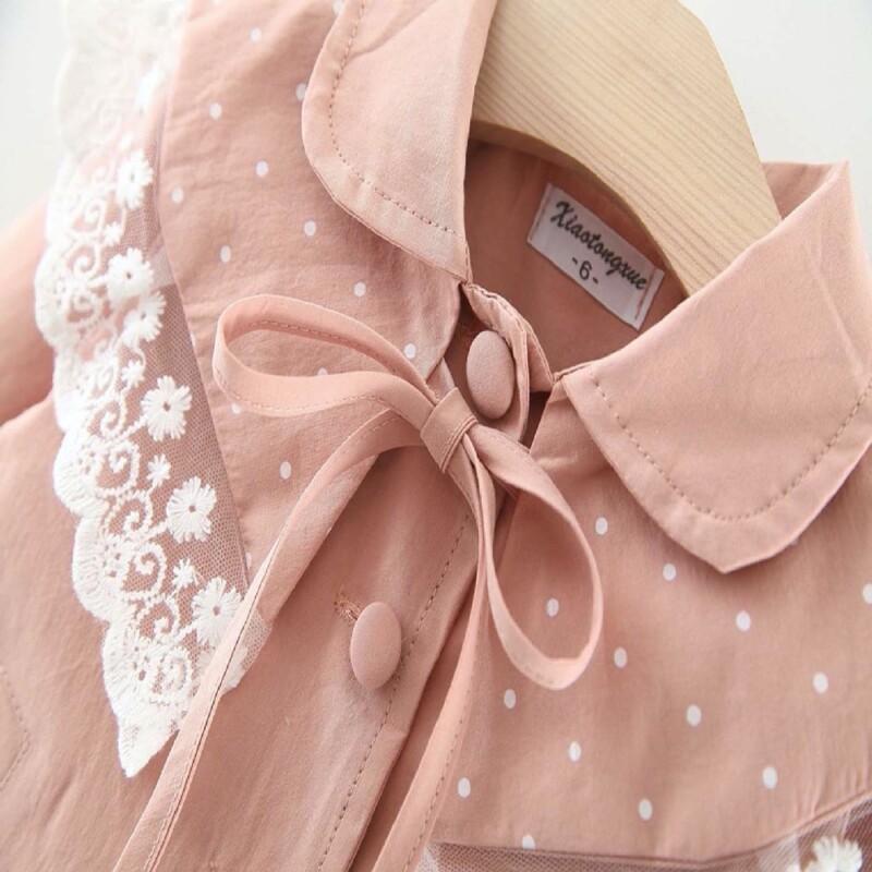 Autumn and winter Baby Toddler Kid girl windbreaker jacket (snowflake edge style)
