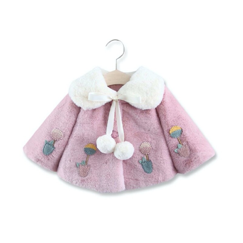 Winter and autumn Baby girls thick coat (color matching sunflower)