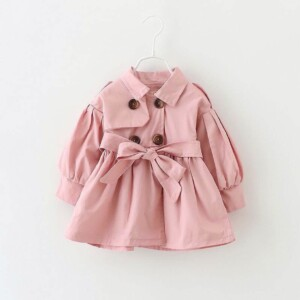 Autumn winter Baby girls long-sleeved trench coat jacket (fashion style)