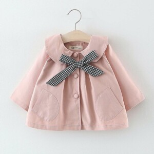 Autumn and winter Baby Toddler Kid girl long-sleeved jacket (bow knot)