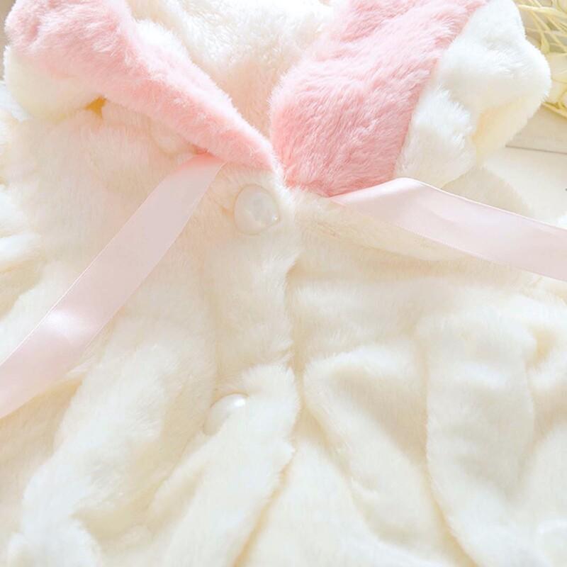 Baby Toddler girls long-sleeve hooded sweater (Imitation Rabbit style)