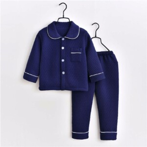 Toddler Kid boys/girls long-sleeve home wear (thick solid color)