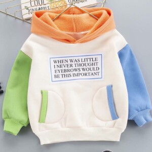 Baby Toddler Kid boys and girls hooded long-sleeve sweater (stitching style)