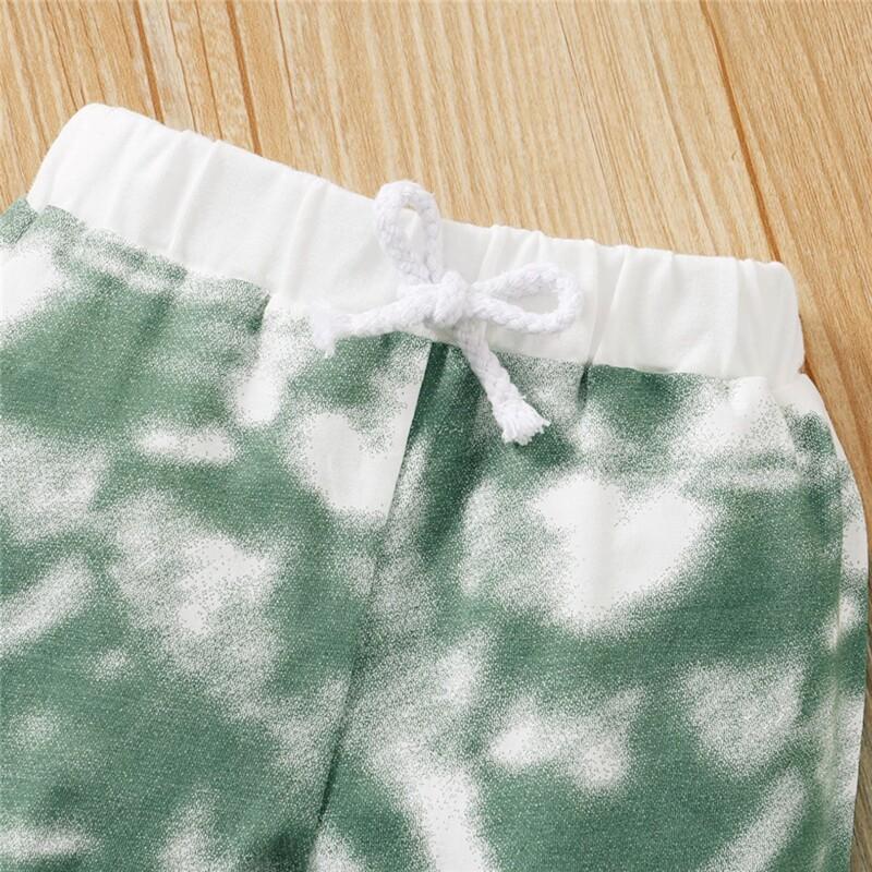 Baby Boys Girls Long Sleeve Homewear Two-Piece Suit (Tie Dye Color Design)