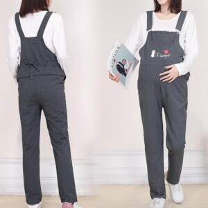 Casual Cat Print Maternity Overalls