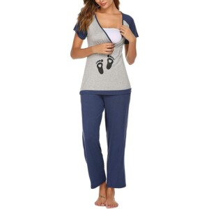 Maternity Short-sleeve Breastfeeding Suit