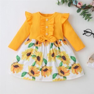 Floral Printed Dress for Toddler Girl