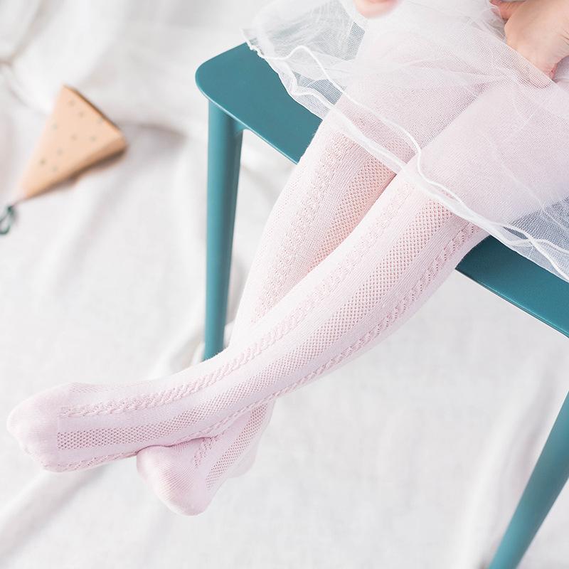 Solid Mesh Footless Leggings Tights