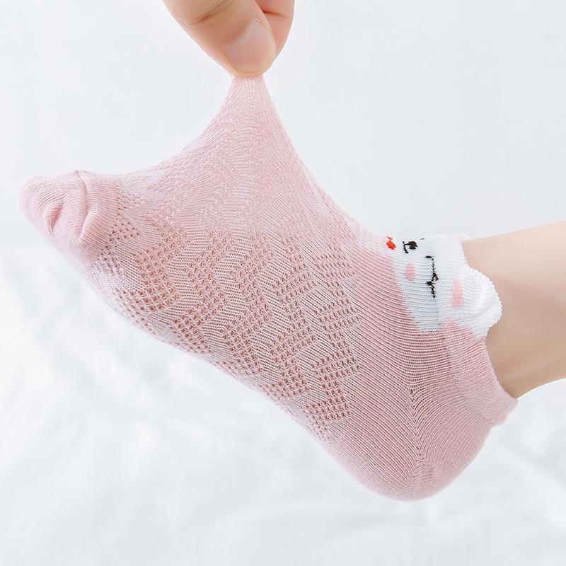5 Pieces Children's Socks Cartoon Animal Baby Boat Socks