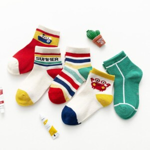 5-piece Cartoon Pattern Children Socks