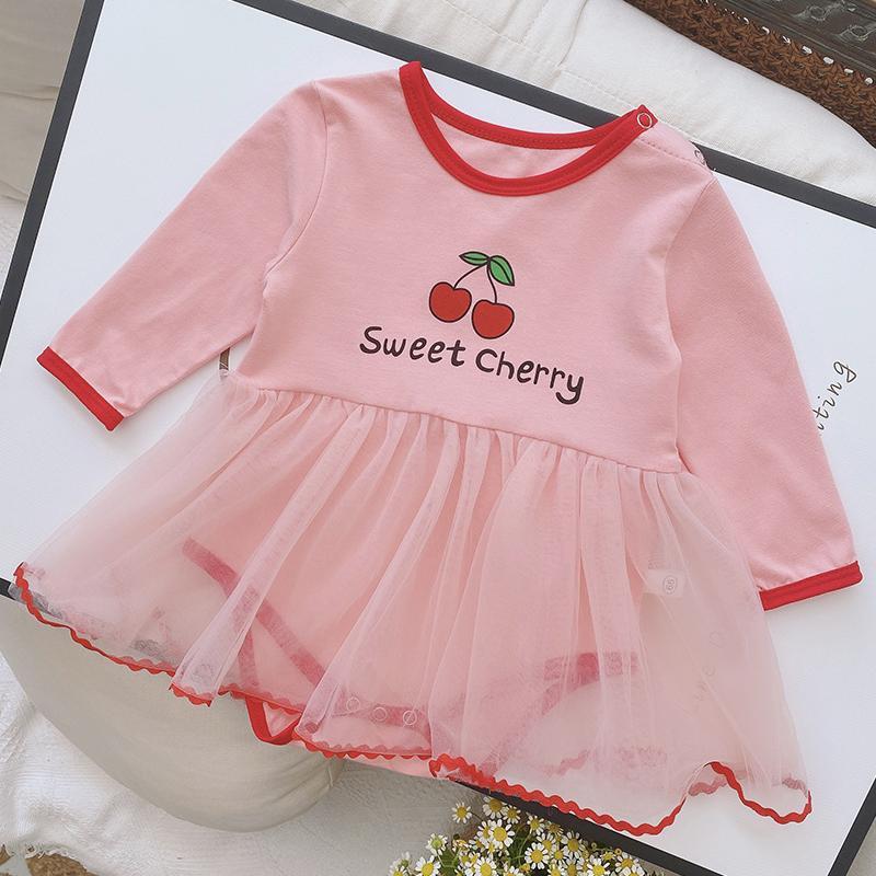 Strawberry Pattern Bodysuit for Baby Girl