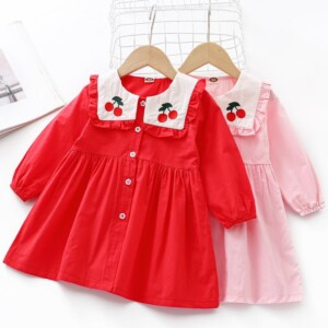 Cherry Printed Dress for Toddler Girl