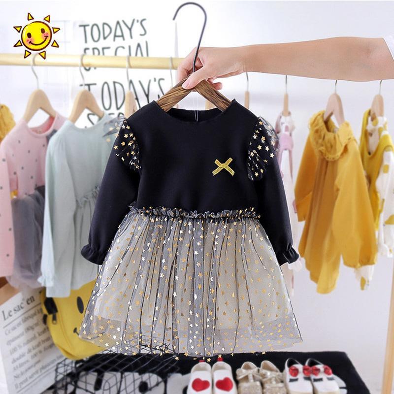Pentagram Printed Patchwork Tulle Dress for Toddler Girl