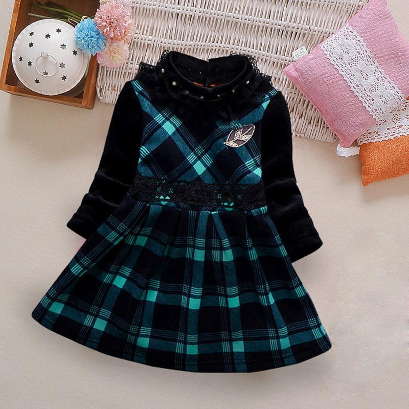 Color-block Plaid Dress for Toddler Girl