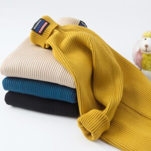 Solid Knitted Sweater for Boy