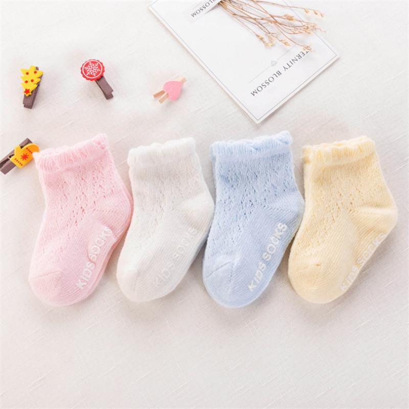 Solid Breathable Socks for Baby
