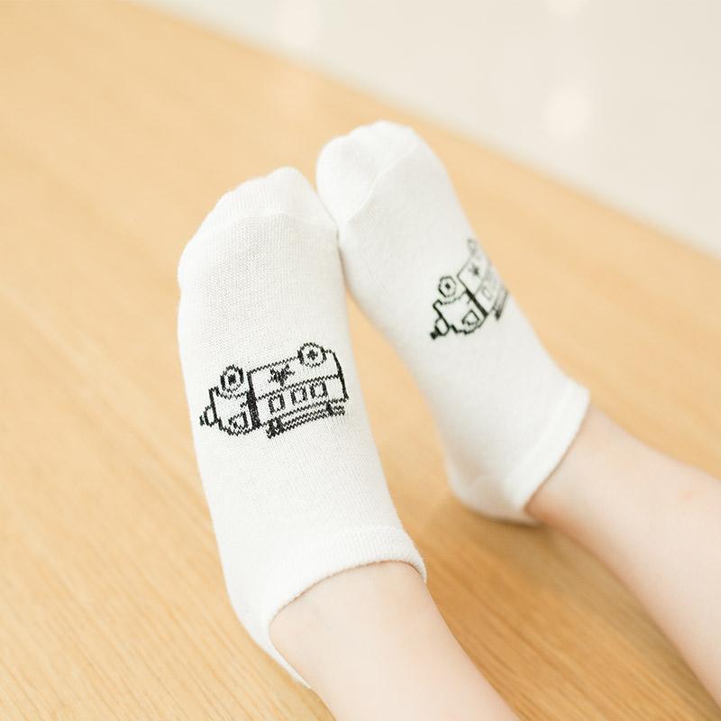 5-piece Cotton Children's Low Cut Socks
