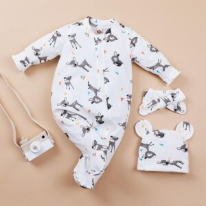 3-piece Hat & Romper & Pants for Baby