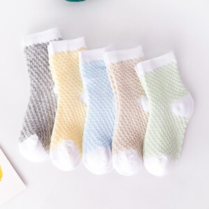 5-piece Cotton Mesh Socks