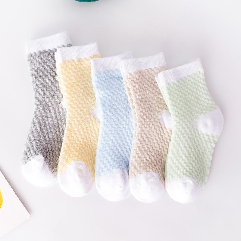 5-piece Cotton Mesh Socks
