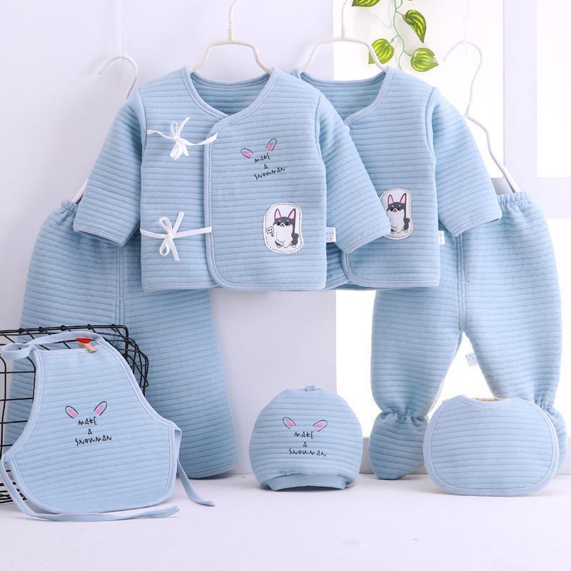 Newborn Clothes Sets 0-3Months Gift Box 100% Cotton Cartoon Underwear Infantil Outfit