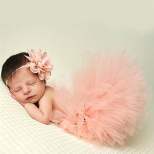 2-piece Solid Tutu Dress Baby Photographic Clothing & Headband