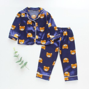 2-piece Cartoon Design Pajamas for Toddler Girl