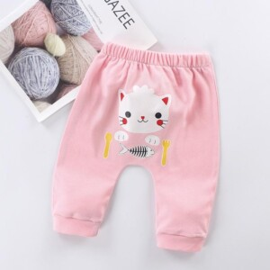 Cartoon Design PP Pants for Baby Girl