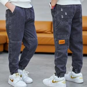 Letter Solid Pants for Boy