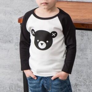 Bear Pattern Long Sleeve T-shirt for Boy