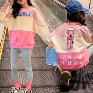 2-piece Cartoon Design Tops & Shorts for Girl