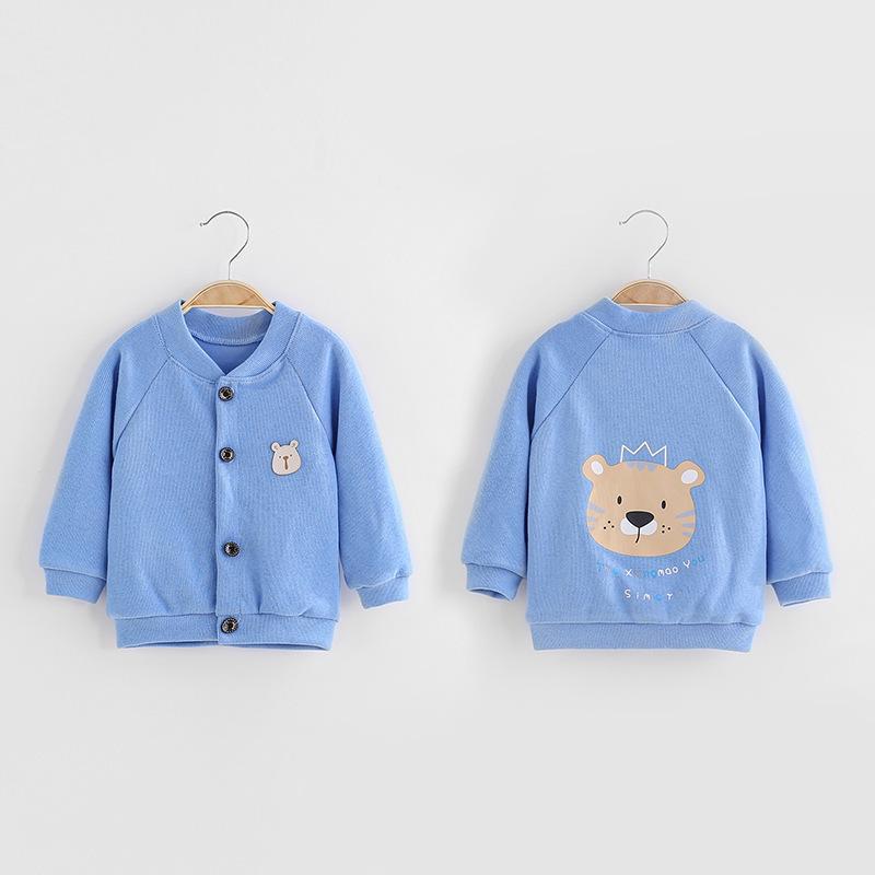 Cartoon Design Sweater Knit Cardigan for Toddler Boy