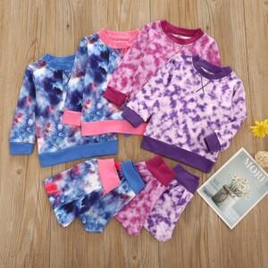2-piece Tie Dye Sweatshirts & Pants for Baby Girl