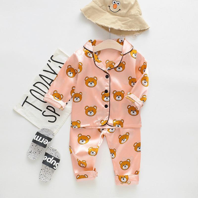 2-piece Cartoon Design Pajamas for Toddler Girl