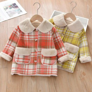Plaid Extra Thick Coat for Toddler Girl
