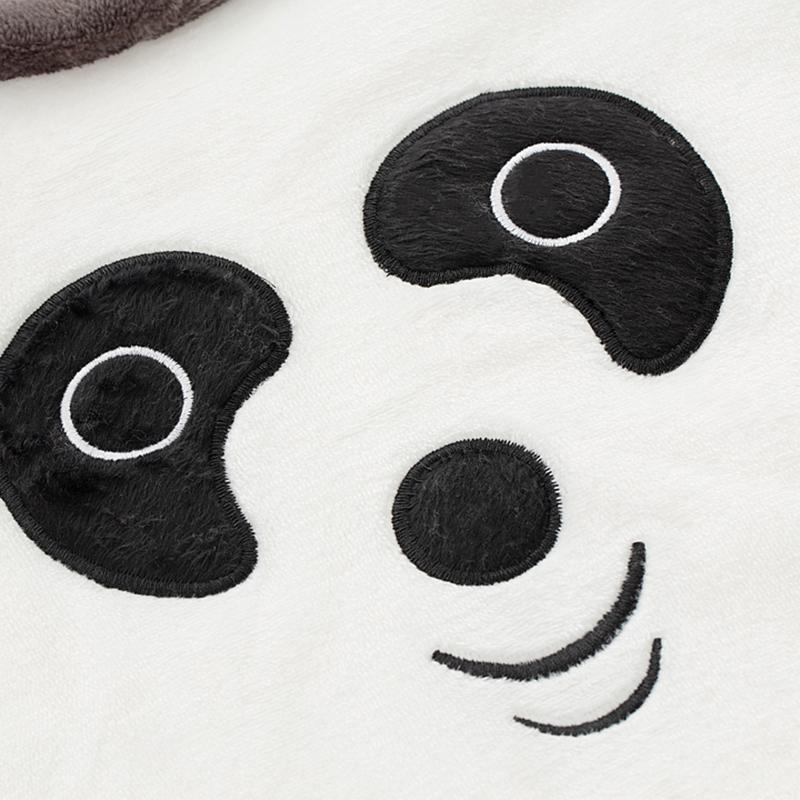 2-piece Panda Pattern Fleece-lined Pajamas Sets for Boy