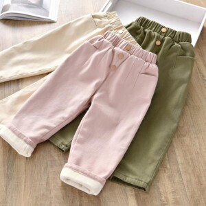 Fleece-lined Sports Pants for Toddler