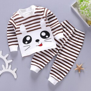 2-piece Stripes Pajamas & Pants for Toddler Boy
