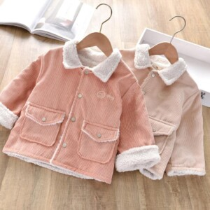 Extra Thick Embroidered Letters Coat for Toddler Girl