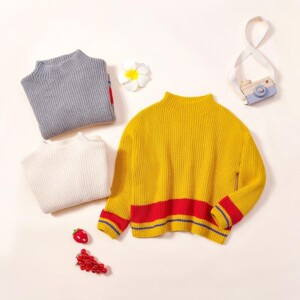 Color-block Knitted Sweater for Toddler Girl