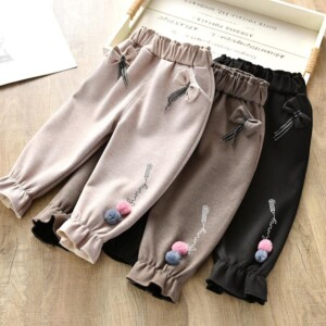 Fleece-lined Sports Pants for Toddler Girl