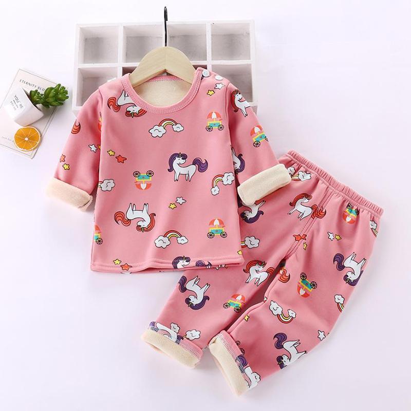 2-piece Geometric Pattern Pajamas Sets for Toddler Girl