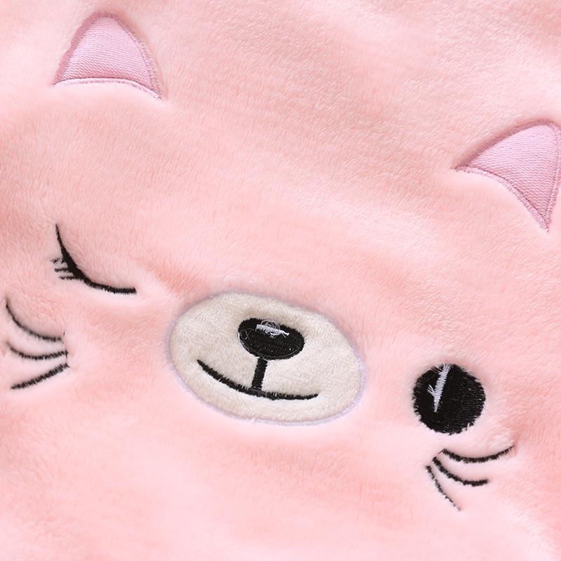 2-piece Animal Pattern Fleece-lined Pajamas Sets for Toddler Girl