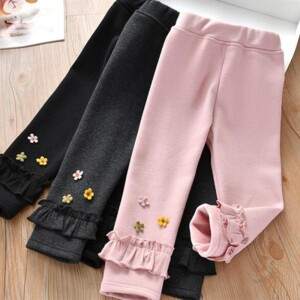 Fleece-lined Boot Pants for Toddler Girl